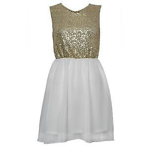RARE backless Gold glitter dress Size 10 | eBay