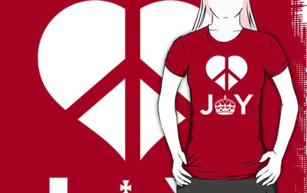 shirt joy peace