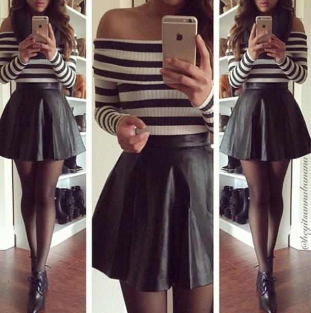 shirt striped shirt crop tops cropped sweater