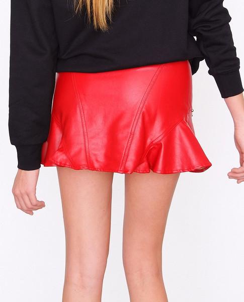 Jupiter Flare Skirt Red in Clothes | P I I N | www.shoppiin.com