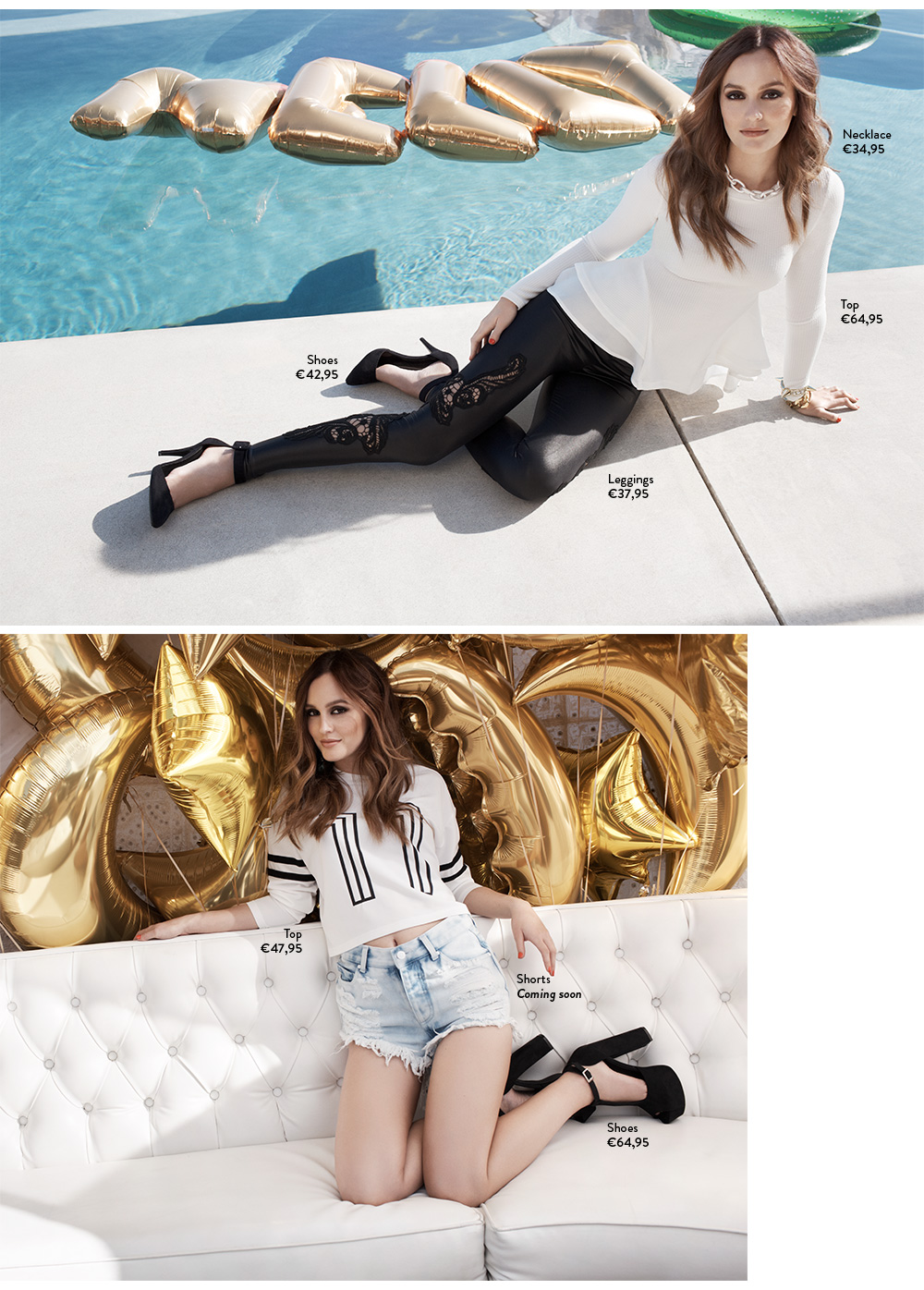 Leighton Meester For Nelly - Spring Fashion Lookbook - Nelly.com