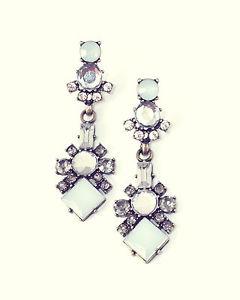 Blue Statement Rhinestone Drop Earrings Vintage Gold Jewellery Chandelier Jewel   eBay