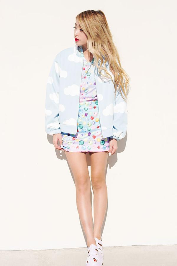style2bones jewels t-shirt skirt jacket