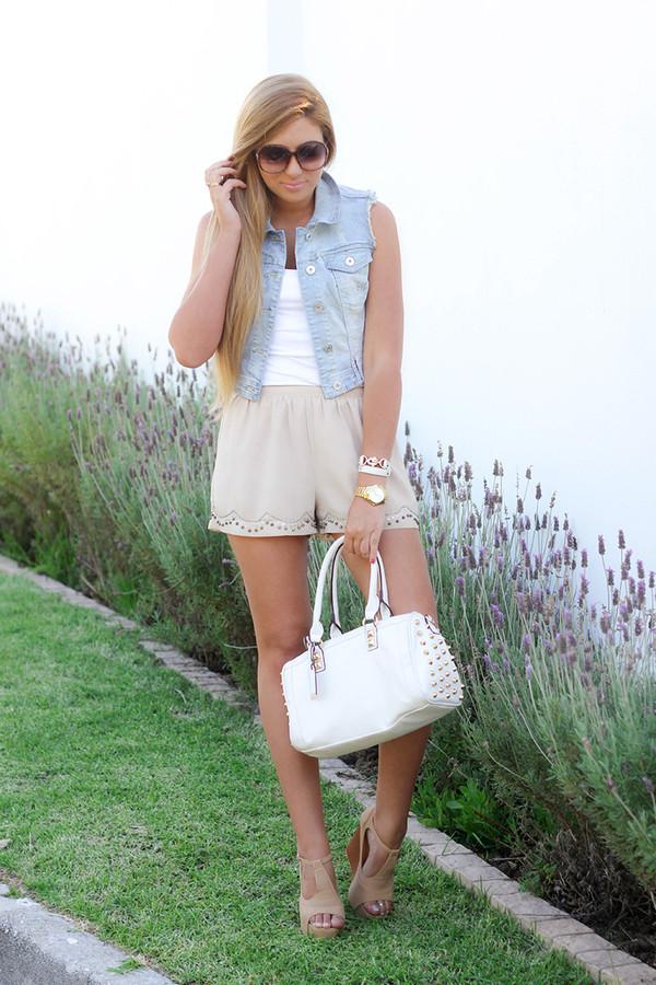 superficial girls shorts shoes t-shirt bag jacket jewels