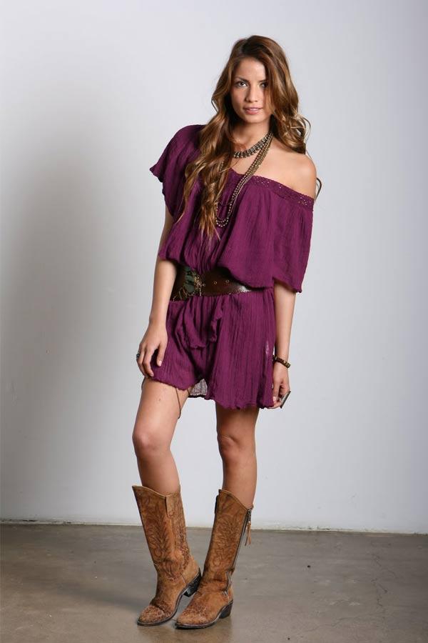 Jen's Pirate Booty Poncho Villa NR Ruffle Dress in Wine