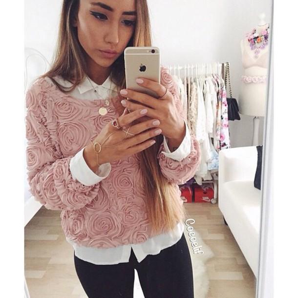 blouse rose pink