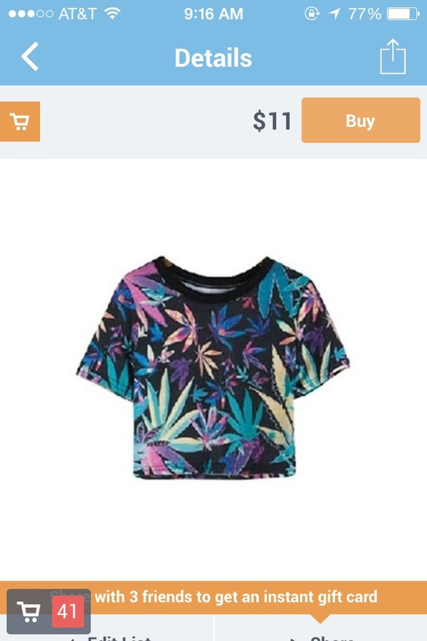 top crop tops huf weed green blue black marijuana