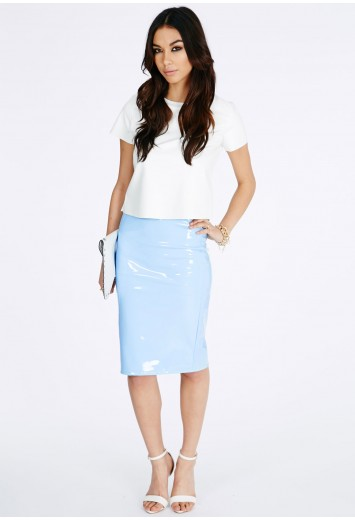 Mircia PVC Midi Skirt - Skirts - Midi Skirts - Missguided