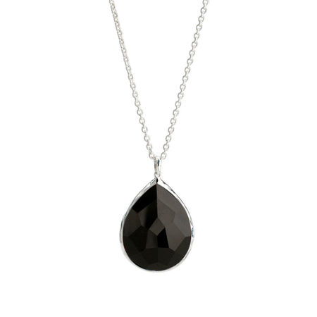 Ippolita Sterling Silver Rock Candy Large Teardrop Pendant Necklace in Black Onyx