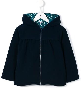 jacket girl toddler print blue stars