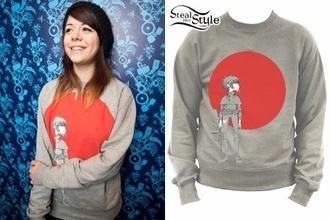 sweater gorillaz noodles jazz punk rock grunge japan punk/grunge/raver