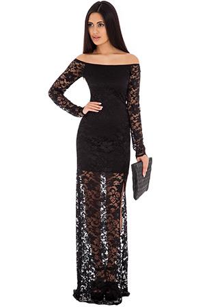 Maxi Off-Shoulder Lace Dress