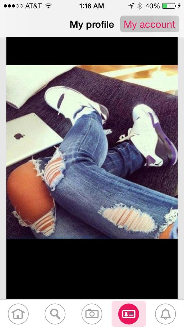 shoes jeans