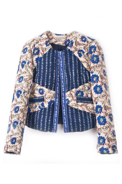 ROMWE | ROMWE Royal Floral Print Pocketed Long Sleeves Jacket, The Latest Street Fashion