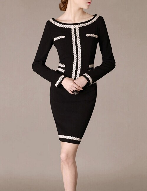 Black O-neck Lace Elegant Noble Summer OL Slim Women Fashion Dress lml7102 - ott-123 - Global Online Shopping for Dresses