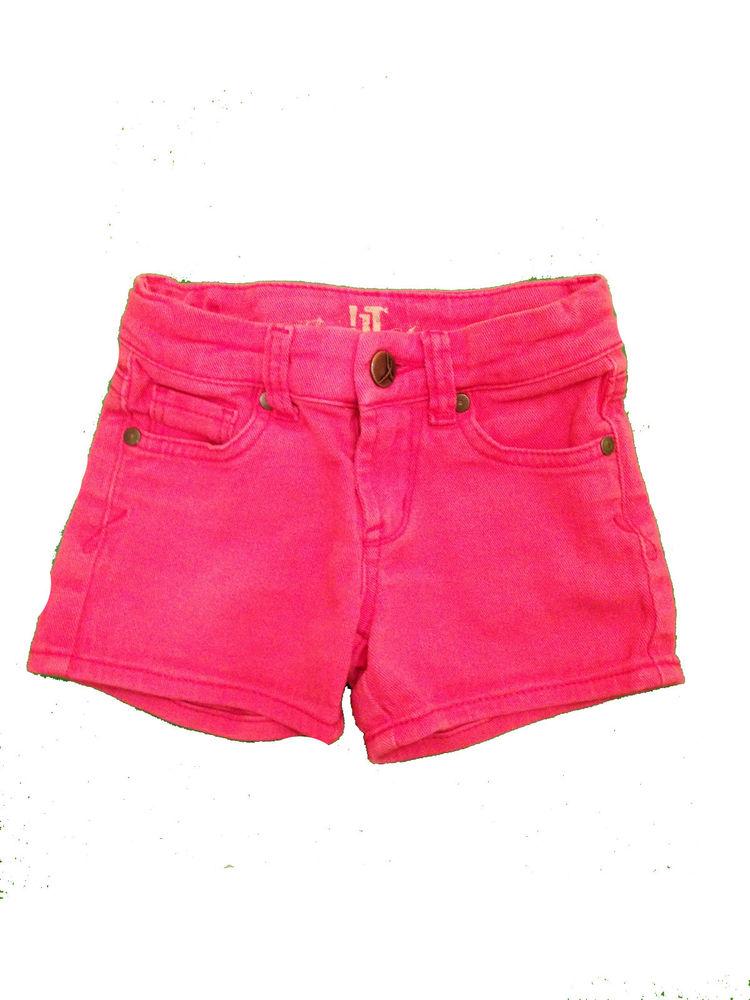 It Los Angeles Stretch Jean Shorts Pink Cotton Denim Adjustable Waist 4T 4   eBay