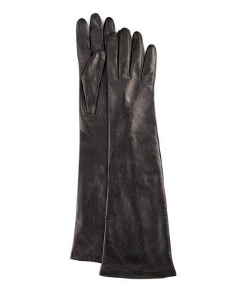 Portolano Elbow-Length Leather Gloves - Neiman Marcus