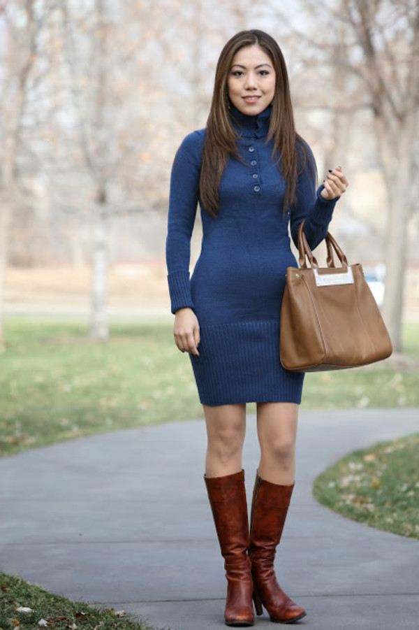 wearing fashion fluently sweater dress shoes bag