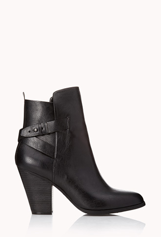 City-Chic Faux Leather Booties | FOREVER21 - 2000076440