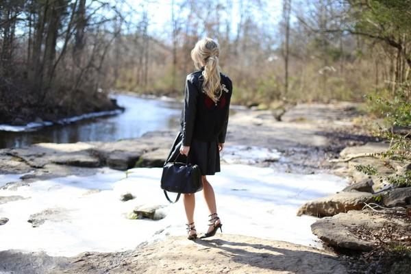 happily grey jacket t-shirt skirt shoes bag