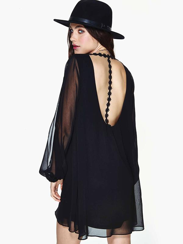 Chiffon Shift Split Sleeve Dress  : KissChic.com