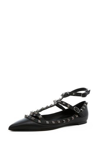 shoes flats ballerina studs