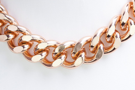3ft Rose Gold Chain Chunky Chain Twisted Curb by ChainsBoutique