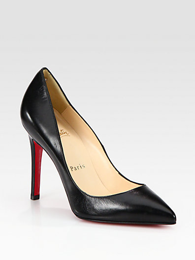 Christian Louboutin - Pigalle 100 Leather Pumps - Saks.com