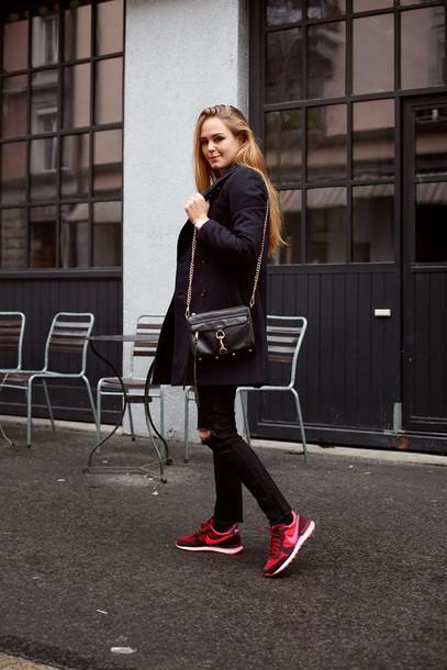 bonsoir cherie blogger coat bag shoes sweater jeans jewels