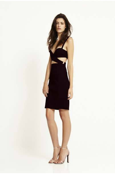 TYRA WRAP FRONT DRESS - Dresses