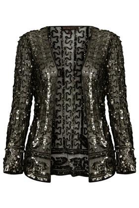 **Sequin Embellished Mesh Jacket by Kate Moss for Topshop - Topshop USA