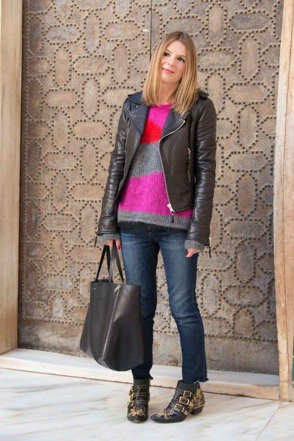 the working girl sweater t-shirt jeans shoes jacket bag