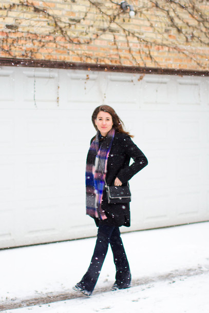 sequins and stripes blogger coat shirt jeans shoes scarf bag jewels