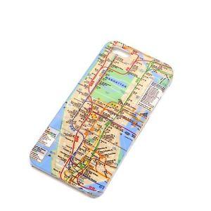 iPhone 5 5S New York City MTA Subway Map Hard Back Cover Case | eBay