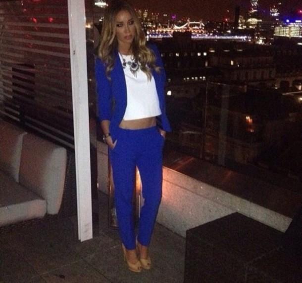 coat blue suit