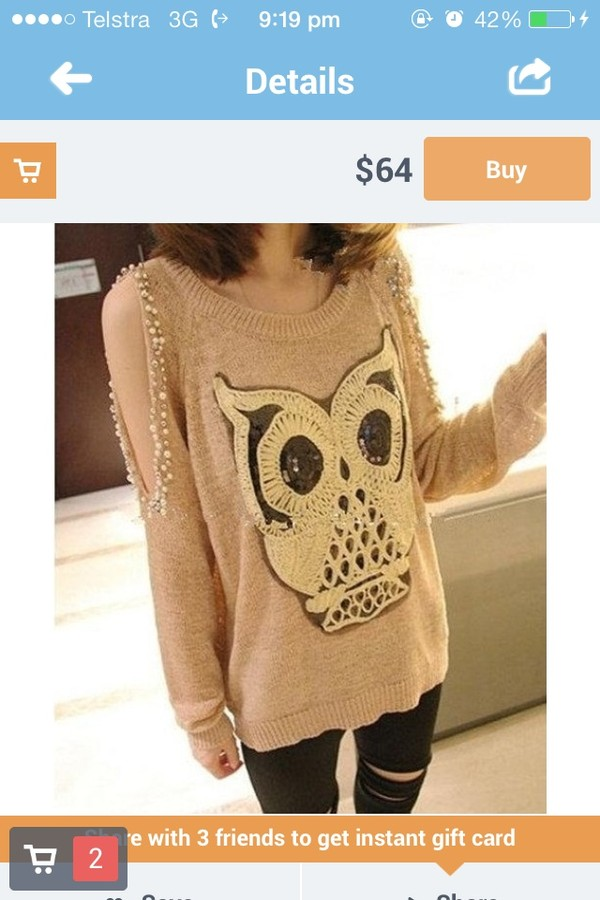 sweater brown owl
