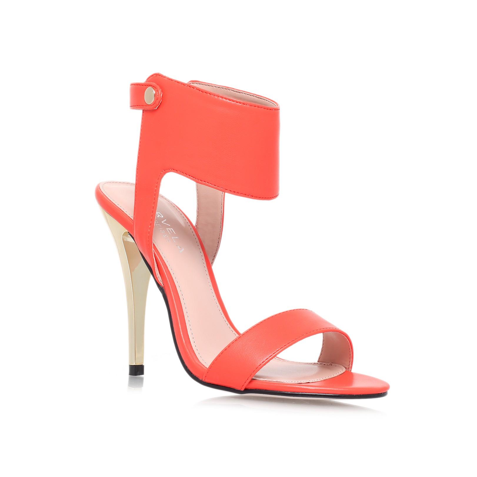 Kurt Geiger    JESSICA Orange High Heel Sandals by Carvela Kurt Geiger