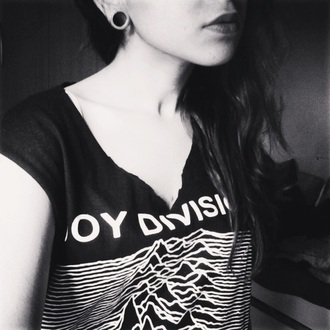 shirt t-shirt band t-shirt joy division black unknown pleasures