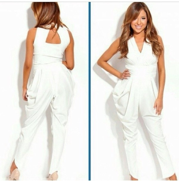 pants white jumpsuit