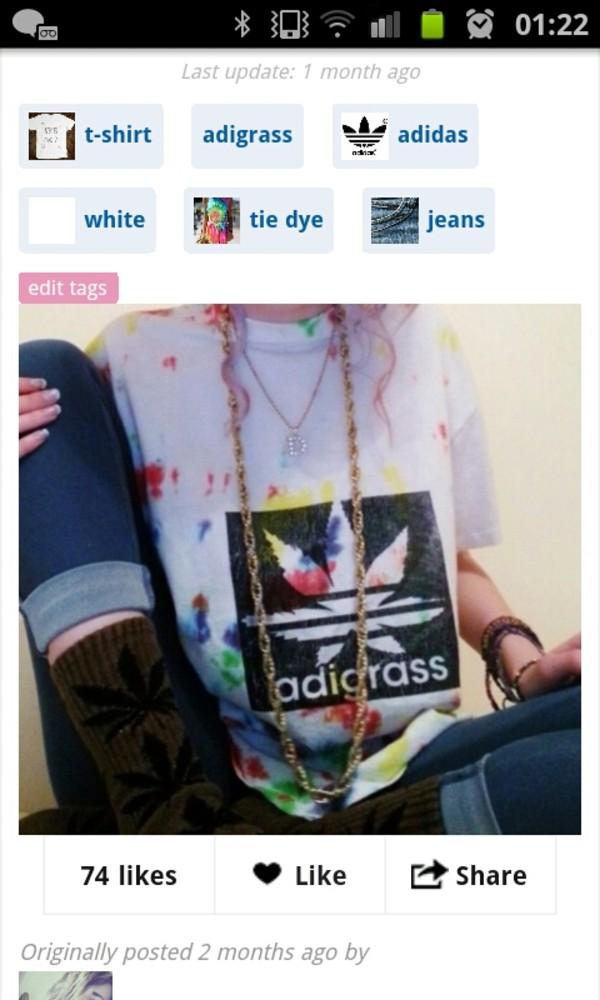 t-shirt adigrass splatter paint tie dye shirt