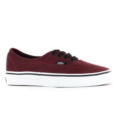 Amazon.com: Vans Classic Authentic Burgundy Womens Trainers: Shoes