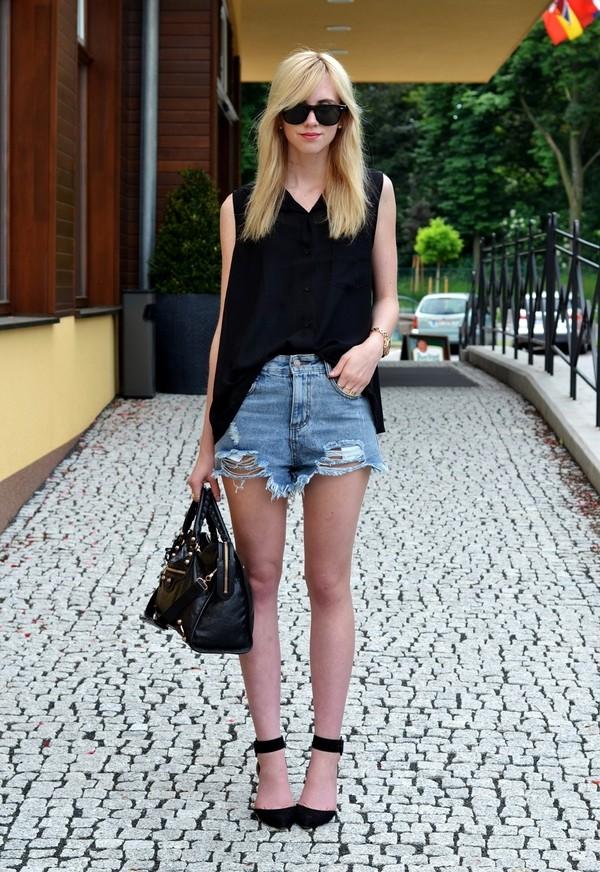 vogue haus blouse shorts shoes bag sunglasses jewels