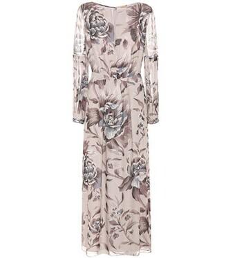 dress silk dress silk purple burberry printed dress print