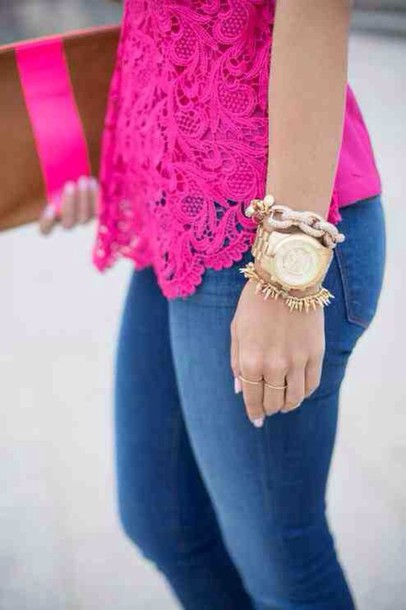 blouse hot pink