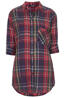 Oversized Check Shirt - Tops  - Clothing  - Topshop
