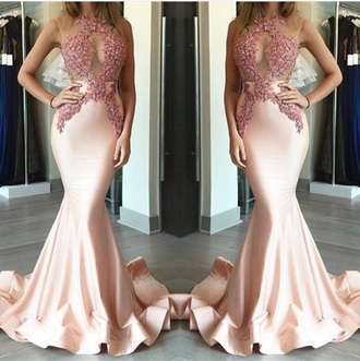 dress pink nude prom sequins iphone party prom dress