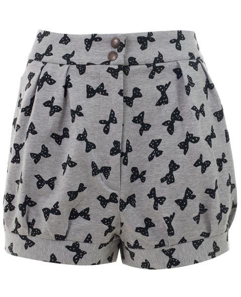 See By Chloé Bow Print High Waisted Shorts -  - Farfetch.com