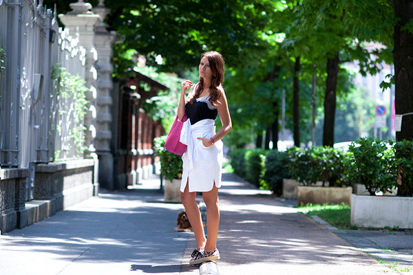 the fashion fruit bag skirt top shoes
