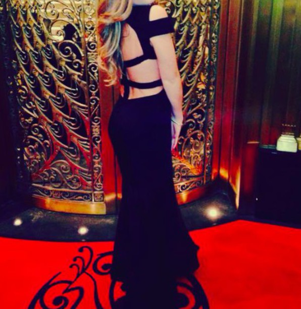 dress black long dress