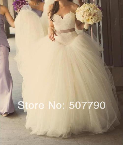 New model 2014 v Neck ball gown wedding bridal dress-in Wedding Dresses from Apparel & Accessories on Aliexpress.com